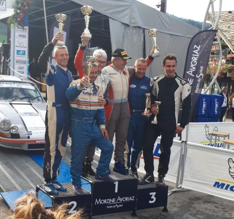 HISTORIC RALLY PROMOTIONS 2019  Podium in Rallye du Mont Blanc VHC